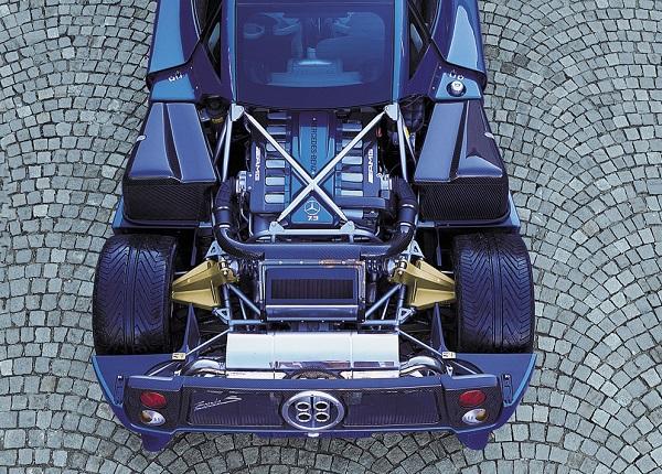 موتور 7.3 لیتری AMG بر روی پاگانی زوندا S